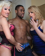Melissa darnel  alison. Two white chicks having fun with a black dude