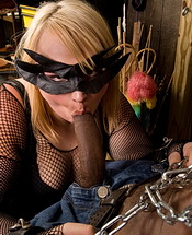 Kim and flip oral dungeon  masked tranny giving a blow. Masked shemale giving a suc