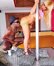Bruna prado and paulo. Hot blonde tranny gets her booty stuffed by long black cock