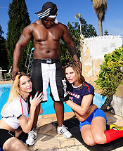 Hunter laviny and viviane  excited tgirls laviny and viviane getting fuck by a black rambo. Excited tgirls Laviny and Viviane getting have sex by a black rambo