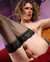 Delia in hose. Amazing ladyboy Delia posing in horny stockings