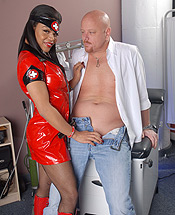 Sheeba starr and tom. Ebony doctor Sheeba having dirty fun with her patient