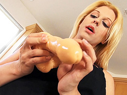 Tyra kitchen bts. Naughty Tyra playing with dildoes