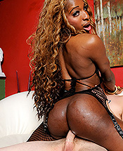 Ariel mandingo and rocky. Black Ariel rides a large white tool