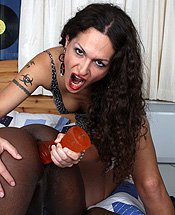 Nikki and retro. Naughty TS Nikki fucked Retro with voluminous toys